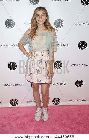 LOS ANGELES - JUN 9:  G. Hannelius at the 4th Annual Beautycon Festival at the Los Angeles Convention Center on June 9, 2016 in Los Angeles, CA