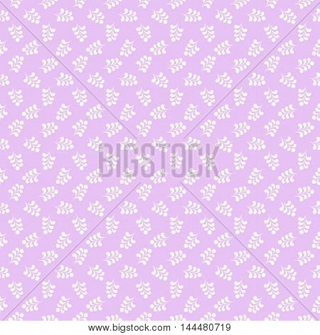 Lilac seamless pattern for design. Vector Illustration