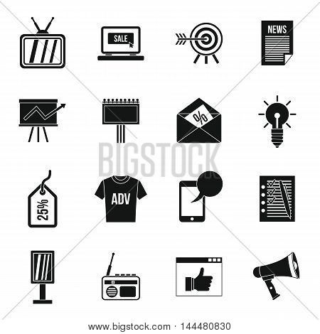 Advertisement icons set in simple style. Marketing set collection. vector illustration