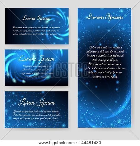 Personal cards and flyer space design vector