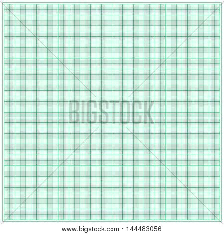 Graph paper for geometric calculations. For the background design works