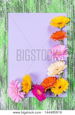 Holiday Postcard With Flowers