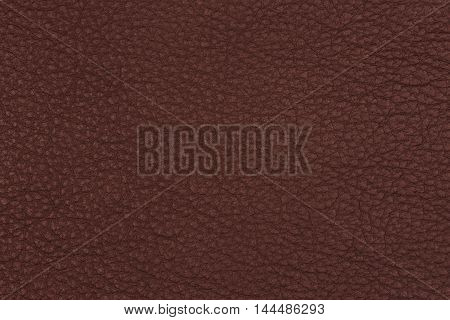 Brown leather texture closeup. Abstract background, empty template.