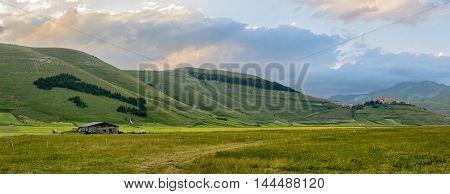 Castelluccio di Norcia (Umbria) and beautiful landscape