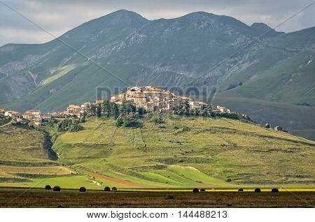 Castelluccio di Norcia (Umbria) scenic view and landscape