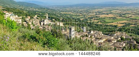 Assisi (Umbria) high definition panorama scenic view