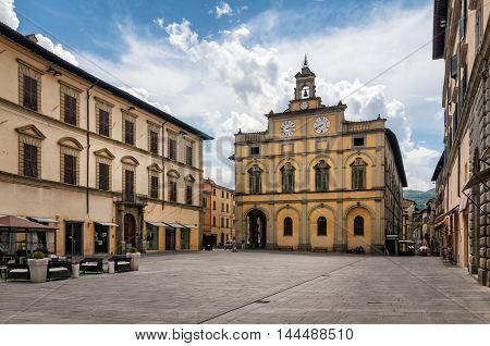 Citta di Castello (Umbria) Piazza Matteotti view