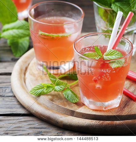 Fresh Alcohol Cocktail With Rum, Berry And Mint