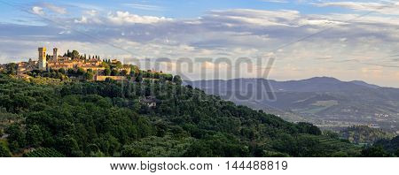 Corciano (Umbria) scenic view at early morning