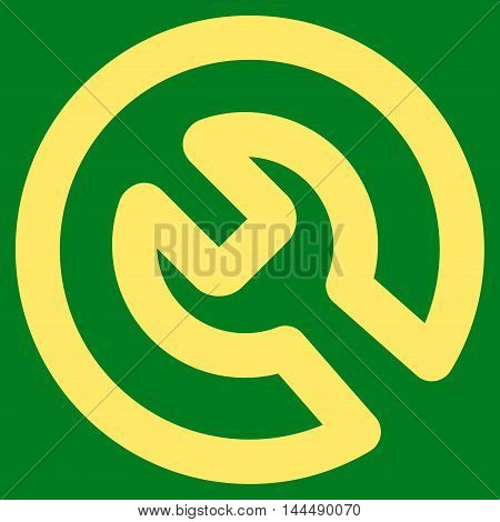 Install vector icon. Style is stroke flat icon symbol, yellow color, green background.