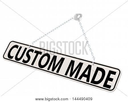 Custom Made Banner Isolated On White