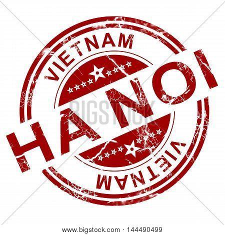 Red Ha Noi Stamp