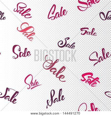 Sale seamless pattern - Sale word, written and arranged composition in the background, it can be used to design actions and holidays