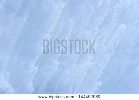 Ice floes and snow texture - Winter image with a bunch of ice floes covered by a layer of snow. Snow close-up texture just great as a winter background.