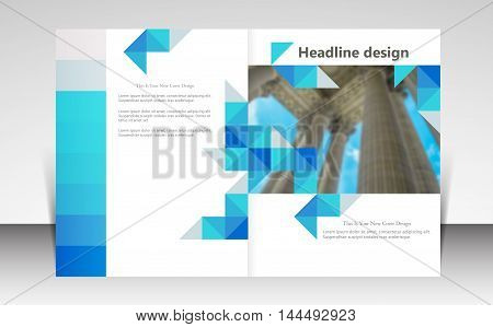 Vector illustration for website page layout template design, business brochure flyer, leaflet cover presentation, booklet, report, corporate newsletter and ad, marketing and online advertising concept