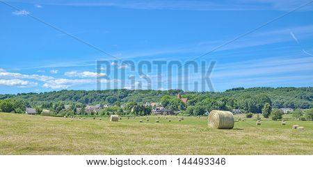 Village of Lancken-Granitz on Ruegen Island at baltic Sea,Mecklenburg western Pomerania,Germany