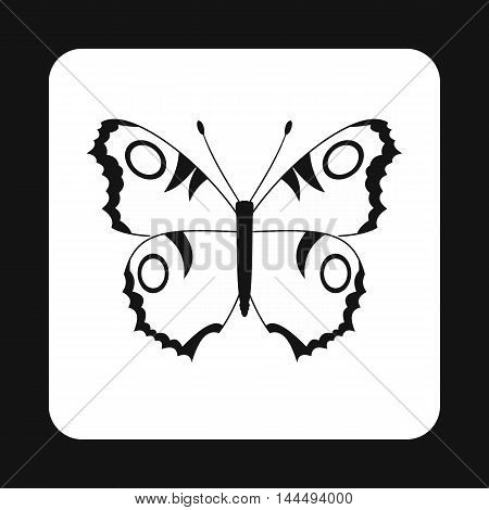 Butterfly with spots on wings icon in simple style isolated on white background. Fly symbol