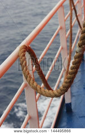 strong boat rope close-up . . .