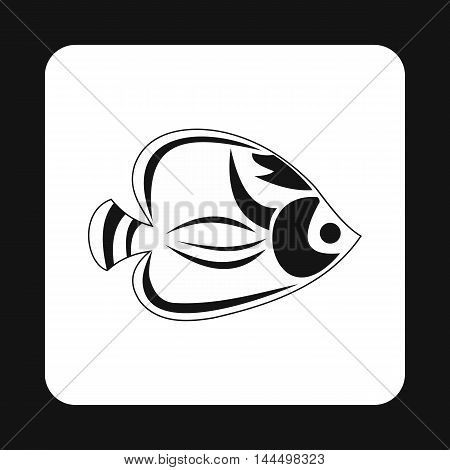 Fish tang icon in simple style isolated on white background. Inhabitants aquatic environment symbol