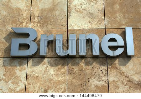 Amsterdam Netherlands-august 26 2016: letters brunel on a building