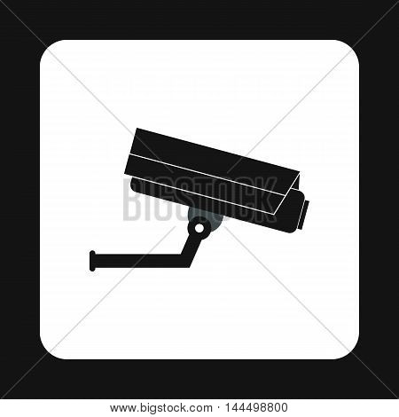 Surveillance camera icon in simple style isolated on white background. Shooting symbol