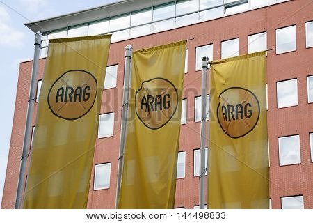 Amsterdam Netherlands-august 26 2016: letters arag on flags
