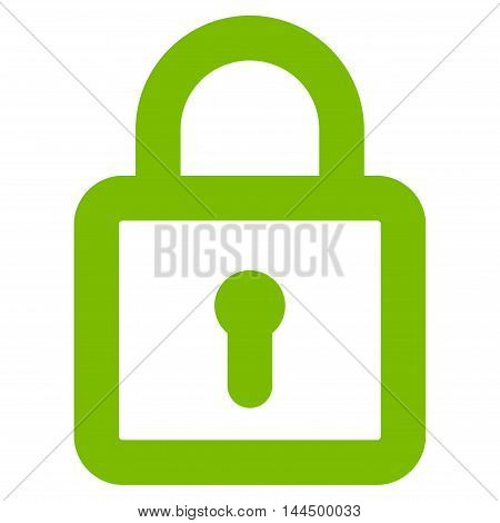Lock vector icon. Style is outline flat icon symbol, eco green color, white background.