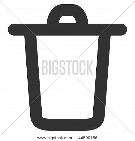 Bucket vector icon. Style is stroke flat icon symbol, gray color, white background.