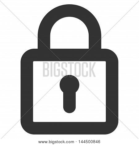 Lock vector icon. Style is linear flat icon symbol, gray color, white background.