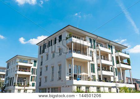 New multi-family houses seen in Berlin, Germany