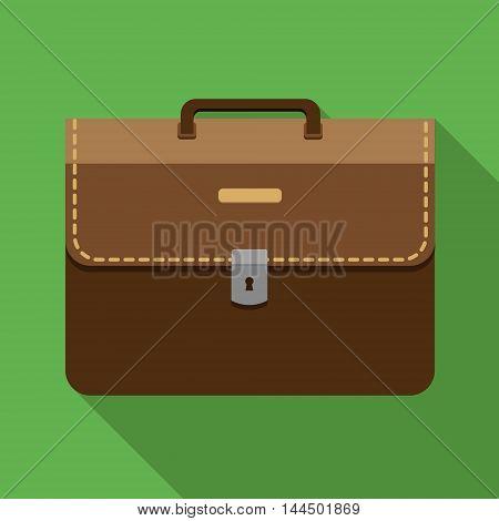 Brown Vintage Leather Briefcase.