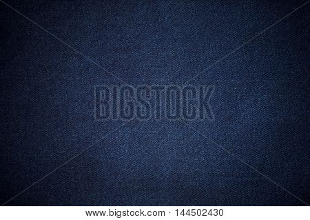 Blurry background of blue denim jeans texture