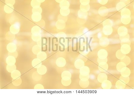 Blur yellow colour bokeh light abstract background.