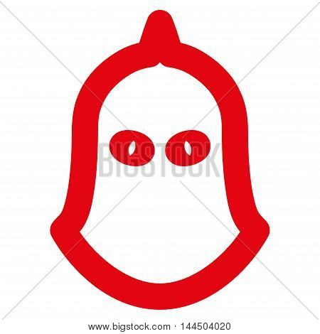 Executioner Helmet vector icon. Style is linear flat icon symbol, red color, white background.