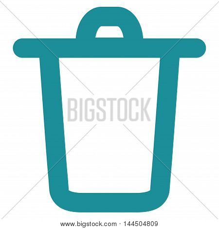 Bucket vector icon. Style is outline flat icon symbol, soft blue color, white background.