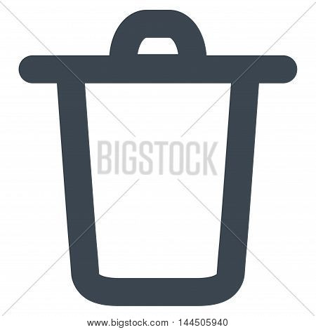 Bucket vector icon. Style is contour flat icon symbol, smooth blue color, white background.