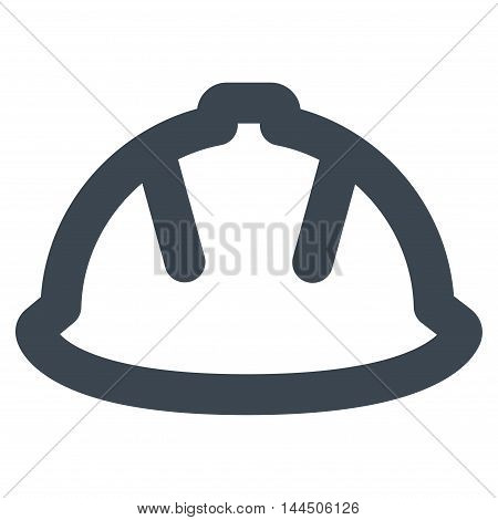 Builder Helmet vector icon. Style is outline flat icon symbol, smooth blue color, white background.