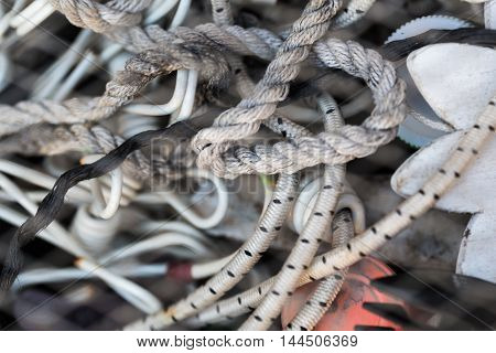abstract background texture ropes and cords closeup