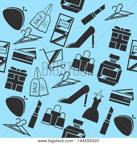 Shopping color pattern. Vector illustration EPS 10