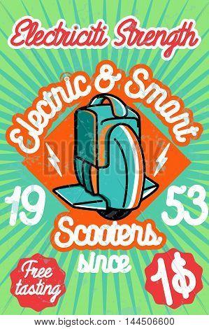 Smart scooter banner. Vector illustration EPS 10