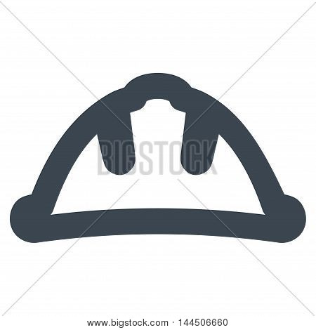 Helmet vector icon. Style is stroke flat icon symbol, smooth blue color, white background.