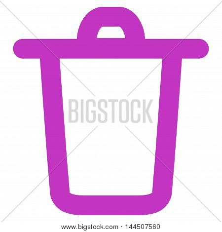 Bucket vector icon. Style is linear flat icon symbol, violet color, white background.