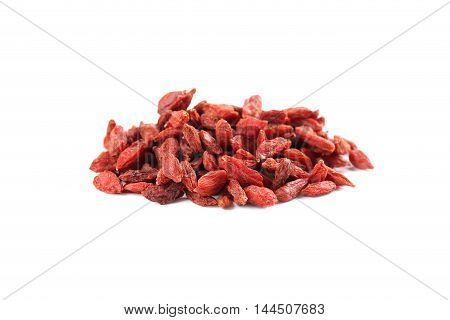 Dry Goji Berries Isolated On A White