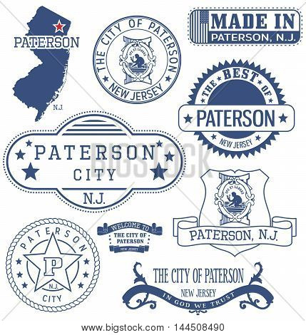 Paterson City, Nj, Generic Stamps And Signs