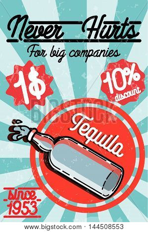Tequila color banner. Vector illustration EPS 10