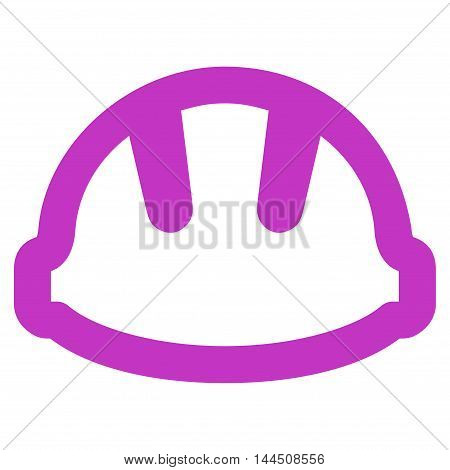 Hardhat vector icon. Style is linear flat icon symbol, violet color, white background.