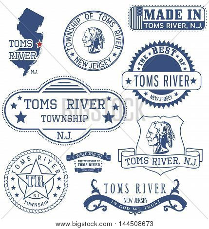 Toms River Township, Nj, Generic Stamps And Signs
