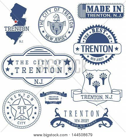 Trenton City, Nj, Generic Stamps And Signs