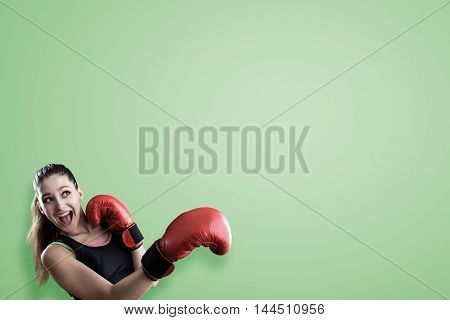 Rookie Boxer Near Green Wall