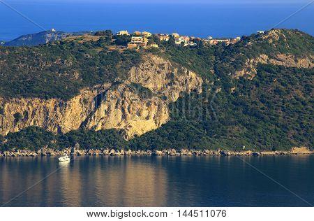 View On Afionas On Corfu Island